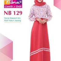 Gamis Muslimah Nibras NB 129 Merah