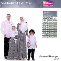 Busana Muslim Sarimbit Nibras Family 45 Hitam Putih