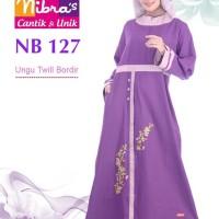 Gamis Muslimah Nibras NB 127 Ungu