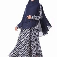 Gamis Muslimah Nibras NB 129 Dongker