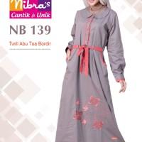Gamis Muslimah Nibras NB 139 Abu Tua