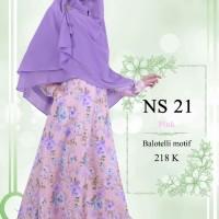 Gamis Muslimah Nibras Syar'i NS 21 Pink