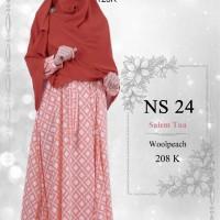 Gamis Muslimah Nibras Syar'i NS 24 Salem Tua
