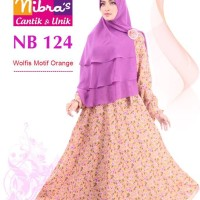 Gamis Muslimah Nibras NB 124 Motif Coklat