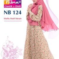 Gamis Muslimah Nibras NB 124 Motif Kuning
