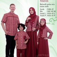 Busana Muslim Sarimbit Nibras Family 45 Maroon
