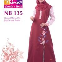 Gamis Muslimah Nibras NB 135 Cigaret Maroon