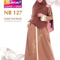 Gamis Muslimah Nibras NB 127 Coklat