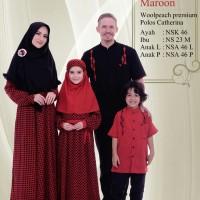 Busana Muslim Sarimbit Nibras Family 45 Merah Maroon