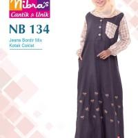 Gamis Muslimah Nibras NB 134 Coklat