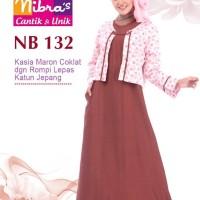 Gamis Muslimah Nibras NB 132 Hijau Lumut
