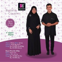 Jual Sarimbit Couple Zenitha 302 / Gamis + Jilbab Syari & Koko Muslim Murah