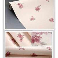 JW Wallpaper Sticker Maroon Rose Simple