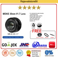 Jual Meike Lens MK-35mm F/1.7 Manual Focus For Fujifilm X-Mount X-A2/X-T10 Murah