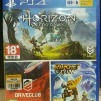 Jual [PS4] Horizon Zero Dawn- Drive Club- Ratchet & Clank - Psn Plus Murah