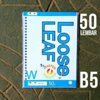 Toyo B5 50 lbr Polos isi Loose Leaf / Kertas Refill Binder 26 Holes