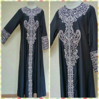 Gamis Abaya Balloteli Bordir Exclusive All Size fit to XL Size