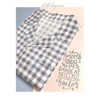 Piyama Pria Baju Celana Tidur Dewasa Katun Daster Jepang Satin GreySq