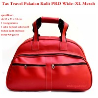 Tas Branded Travel Kulit Suede PRD Wide XX-Large merah