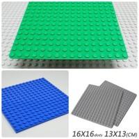 Lego Baseplate 16 x 16 Grey Green Blue Dark Bluish Gray Original Part