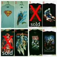 Jual Kaos Superman, Flash, Aquaman, Spiderman, Kapten Amerika, Star Wars Murah