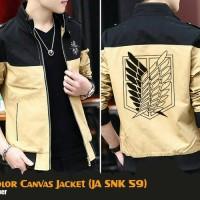 Jual Jaket Anime Attack On Titan Special Canvas Jacket (JA SNK 59) Murah