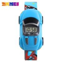 SKMEI Jam Tangan LED Anak - Anak Bentuk Mobil - DG1241 warna biru