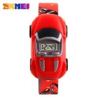 SKMEI Jam Tangan LED Anak - Anak Bentuk Mobil - DG1241 warna merah