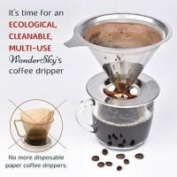 Jual Stainless Steel V60 Coffee Dripper 1-2 cups Murah