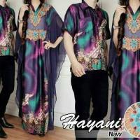 kaftan satin hayani couple + kemeja pria batik
