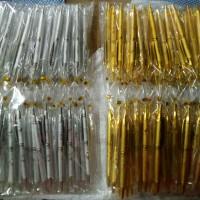 Souvenir Pernikahan Pulpen Gold / Silver