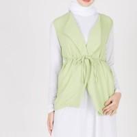 Atasan Muslimah Giselle Vest Green XQ Moslem Wear