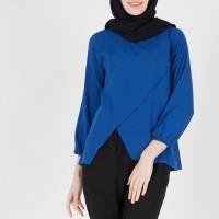 Atasan Muslimah Blouse Khalysta Top Blue XQ Moslem Wear