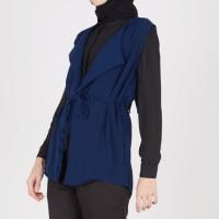 Atasan Muslimah Giselle Vest Navy XQ Moslem Wear