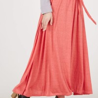 Rok Muslimah Naureen Rope Skirt Red MYBAMUS