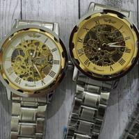 jam tangan pria winner stainless steel ( no need batre)