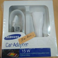 Car Charger Samsung Note 4 S6 15W Fast Charger Saver Mobil Original