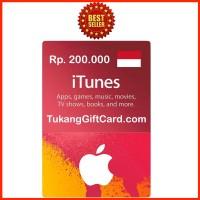 Jual [BEST SELLER] iTunes Gift Card Indonesia 200ribu IGC Murah
