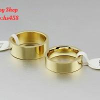 cincin pas tunangan/ nikah gold- bahan Titanium