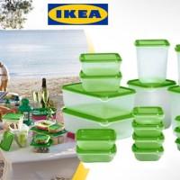 Jual Kotak Box Plastik Makanan IKEA PRUTA isi17 Snack Cemilan Lebaran Natal Murah
