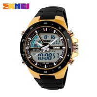 Jual Jam Tangan Pria ORIGINAL SKMEI Dual Time Zone Digital 5 ATM Waterproof Murah