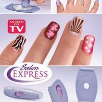 Jual JUAL Salon Express / Nail Art Stamping Kit , Decorate Your Nails Like  Murah