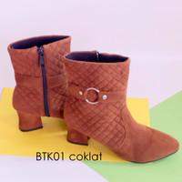 Jual SALE sepatu boot heels suede wanita BTK01 Murah