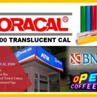 Oracal 8500 Translucent Cal Buat Neon Box ( Per Meter )
