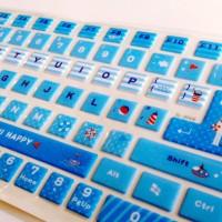 Jual Cute Blue - Keyboard Sticker Murah