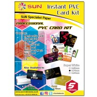 Kertas PVC  Super White 0.76mm - SUN Professional PVC ID Card