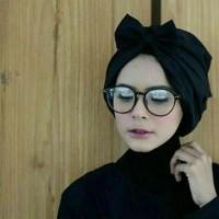 Hijab Fashion Muslim / Turban Pita Polos / Bahan Silk Crepes
