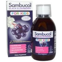 Sambucol, Black Elderberry, For Kids Syrup, Berry Flavor 230ml