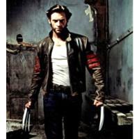 Jaket Semi Kulit Sintetis Jacket Wolverine Logan X Men Hitam Merah