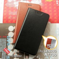 Leather Flip Case Lenovo A7700 Plus + A7700+ Flipcase Cover Flipcover
